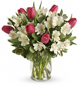 Spring Romance Bouquet in Dubuque IA, New White Florist