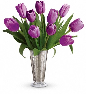 Tantalizing Tulips Bouquet by Teleflora in Pekin IL, The Greenhouse Flower Shoppe