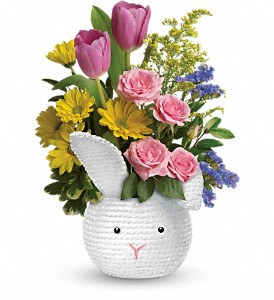 Teleflora's Cuddle Bunny Bouquet in Columbus OH, OSUFLOWERS .COM