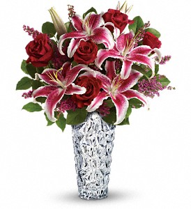 Teleflora's Diamonds And Lilies Bouquet in The Woodlands TX, Rainforest Flowers