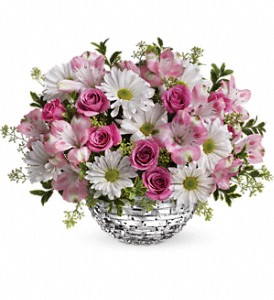 Teleflora's Facets Of Spring Centerpiece in Oklahoma City OK, Array of Flowers & Gifts