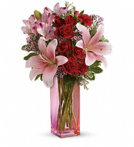 Teleflora's Hold Me Close Bouquet in The Woodlands TX, Rainforest Flowers