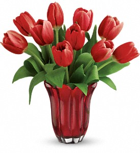Teleflora's Kissed By Tulips Bouquet in The Woodlands TX, Rainforest Flowers