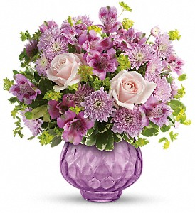 Teleflora's Lavender Chiffon Bouquet in Dubuque IA, New White Florist