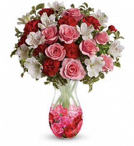 Teleflora's Rosy Posy Bouquet in The Woodlands TX, Rainforest Flowers