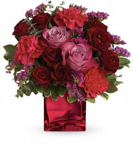 Teleflora's Ruby Rapture Bouquet in Beaumont CA, Oak Valley Florist