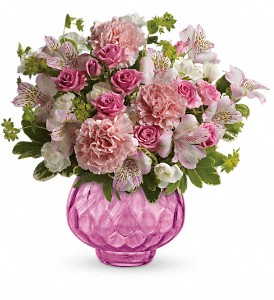 Teleflora's Simply Pink Bouquet in Warner Robins GA, Sharron's Flower House & Whimsey Manor