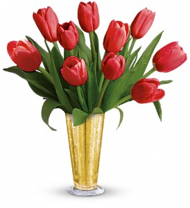 Tempt Me Tulips Bouquet by Teleflora in Northport NY, The Flower Basket