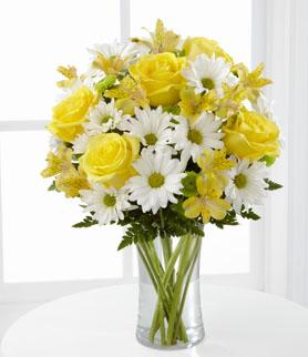 FTD Sunny Sentiments Bouquet in Hollister CA, Barone's Westlakes Balloons and Gifts