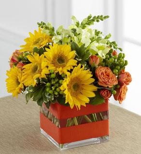 FTD Perfect Sun Bouquet in Hollister CA, Barone's Westlakes Balloons and Gifts
