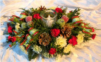 Frosty Fruit Centerpiece in Kennett Square PA, Barber's Florist Of Kennett Square