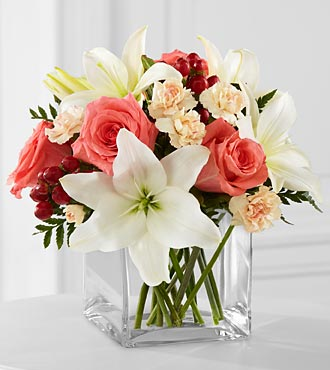 FTD Blushing Beauty Bouquet in Hollister CA, Barone's Westlakes Balloons and Gifts