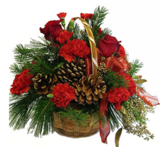 Holiday Basket Arrangement in Amherst NY, The Trillium's Courtyard Florist