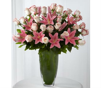 Pink Roses & Lilies in Woodland Hills CA, Abbey's Flower Garden