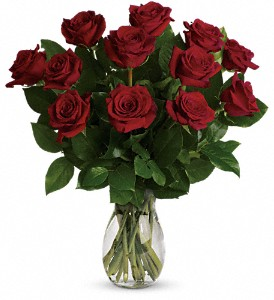 My True Love Bouquet with Long Stemmed Roses in Oakland City IN, Sue's Flowers & Gifts