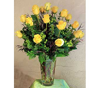 2 Dozen Yellow Roses in Rancho Santa Fe CA, Rancho Santa Fe Flowers And Gifts