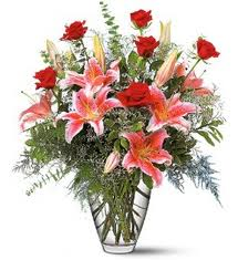 Red Roses & Lilies in Eagle River AK, Oopsie Daisy LLC.