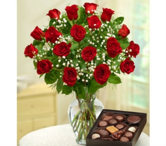 18 Premium Long Stem Red Roses in Palm Desert CA, Milan's Flowers & Gifts