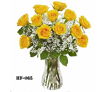 A Dozen Yellow Roses  in Fairfield CT, Hansen's Flower Shop and Greenhouse