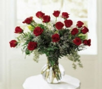 18 Roses Professionally Arranged in a vase in Canton PA, Stulls Flowers