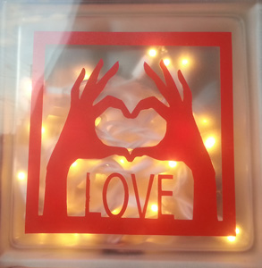Lighted Cube- Love in Madisonville KY, Exotic Florist & Gifts