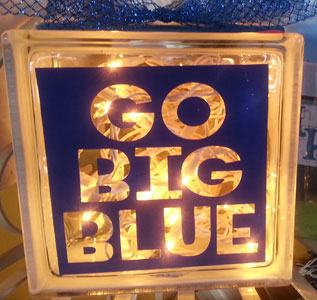 Lighted Cube - Go Big Blue in Madisonville KY, Exotic Florist & Gifts