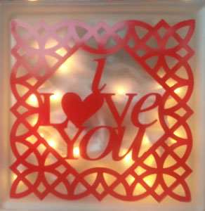 Lighted Cube - I Love You in Madisonville KY, Exotic Florist & Gifts