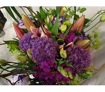 PURPLE FANTASY CUT BOUQUET in Victoria BC, Fine Floral Designs