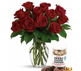 Dave's Sweet Tooth and Dozen Roses in Detroit and St. Clair Shores MI, Conner Park Florist
