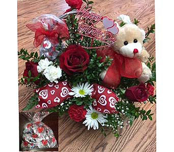 Flowers Teddy & Chocolate in Modesto CA, Flowers By Alis