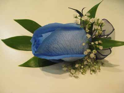 Blue Rose Boutonniere in Nepean ON, Bayshore Flowers