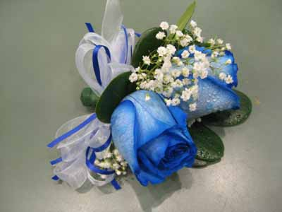 Blue Rose Corsage in Nepean ON, Bayshore Flowers