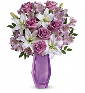 Teleflora's Lavender Beauty Bouquet in Columbus OH, OSUFLOWERS .COM