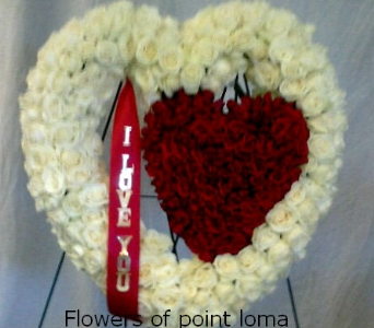 I LOVE YOU HEARTS in San Diego CA, Flowers Of Point Loma