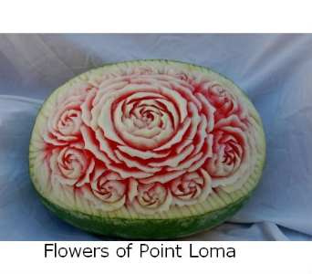 Watermelon carving in San Diego CA, Flowers Of Point Loma