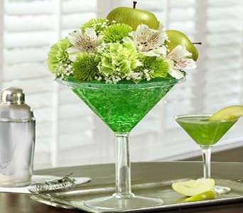 Green Dublin Apple Cocktail in Casper WY, Keefe's Flowers