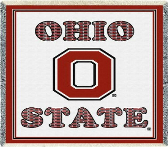Plaid Ohio State with Block O Throw in Columbus OH, OSUFLOWERS .COM