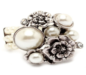 Silver, Pearl And Rhinestone Ring in Manhattan KS, Westloop Floral