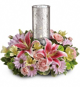 Just Delightful Centerpiece by Teleflora in Ambridge PA, Heritage Floral Shoppe