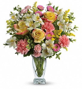 Meant To Be Bouquet by Teleflora in The Woodlands TX, Rainforest Flowers