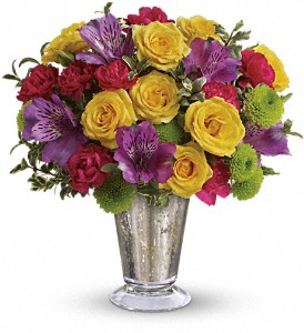 Teleflora's Fancy That Bouquet in Vancouver BC, Purple Rainbow Florist
