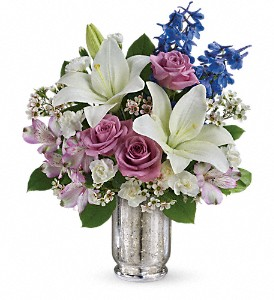 Teleflora's Garden Of Dreams Bouquet in Hendersonville NC, Forget-Me-Not Florist
