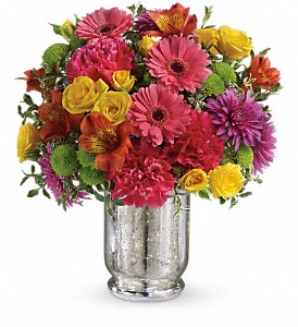 Teleflora's Pleased As Punch Bouquet in Santa Claus IN, Evergreen Flowers & Decor