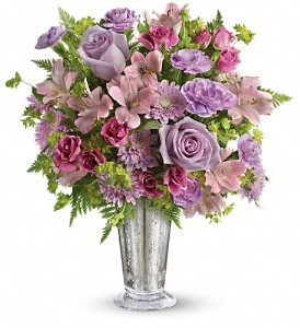 Teleflora's Sheer Delight Bouquet in Austintown OH, Crystal Vase Florist