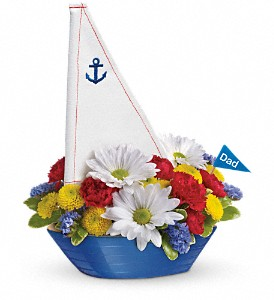 Teleflora's Anchors Aweigh Bouquet in Lewiston ME, Val's Flower Boutique, Inc.