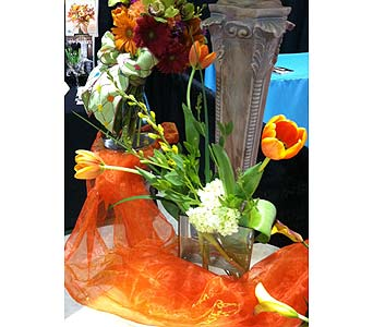 Wedding Show - Summer/Spring Table Arrgmt-2 in Wake Forest NC, Wake Forest Florist