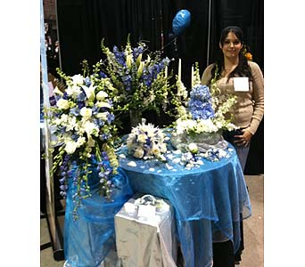 Wedding Show - Trish's Winter Theme in Wake Forest NC, Wake Forest Florist