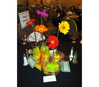 Dinner Centerpieces - Gerberas-View 2 in Wake Forest NC, Wake Forest Florist