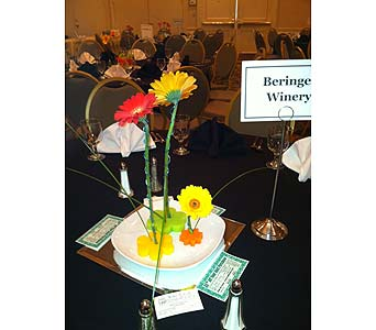 Dinner Centerpieces - Gerberas-View 3 in Wake Forest NC, Wake Forest Florist