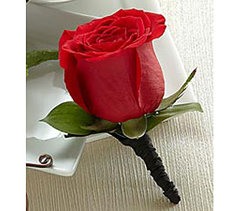 Red Rose Boutonniere in Stamford CT, Stamford Florist